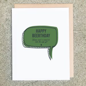 Beerthday Card Quote Green