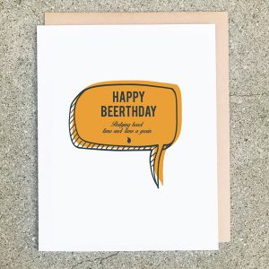 Beerthday Card Quote Yellow